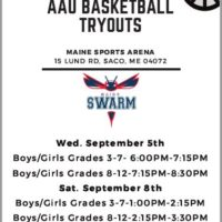 Maine Sports Arena partners with The Maine Swarm AAU Basketball!